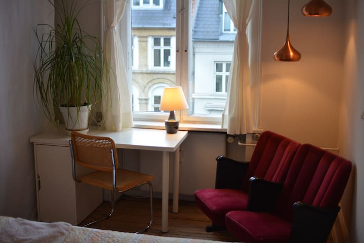 Library room in the Copenhagen Vesterbro area