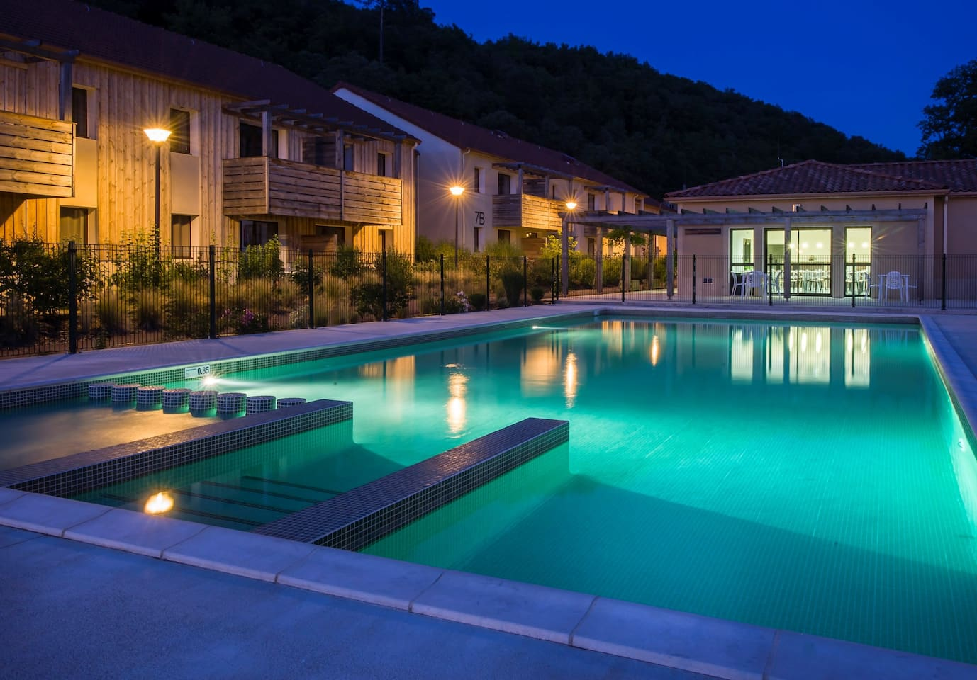 Take in gorgeous views while lounging around the on-site outdoor pool.