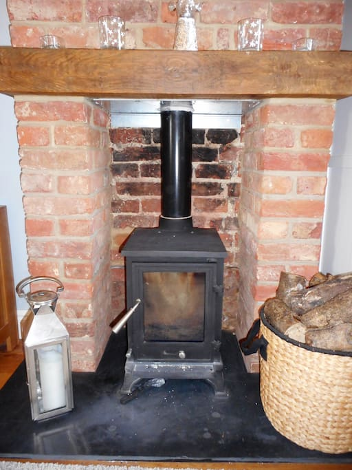 The woodburning stove - perfect on those colder evenings.