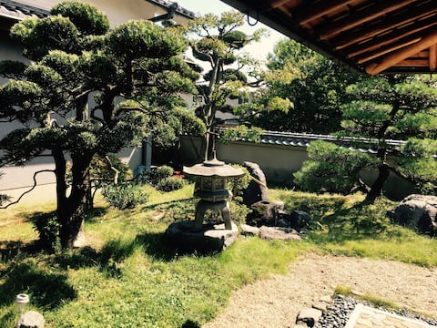 Japanese-style guest suite with beautiful garden
