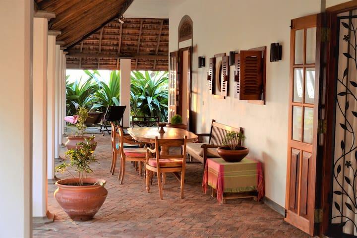 Dining area on the veranda