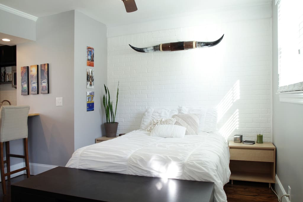 Comfy bed with memory foam mattress