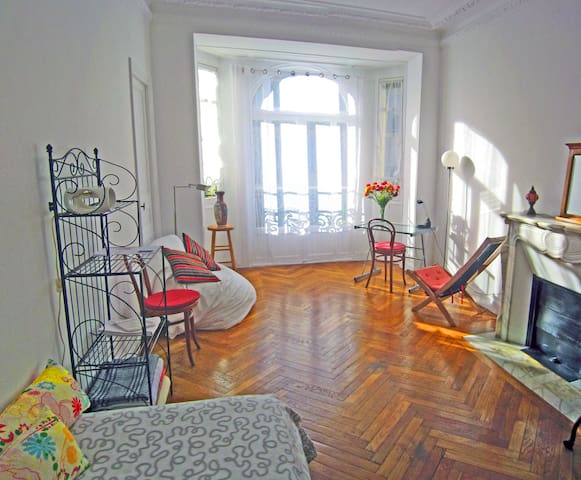 Quiet room near the train station - Niza - Apartamento