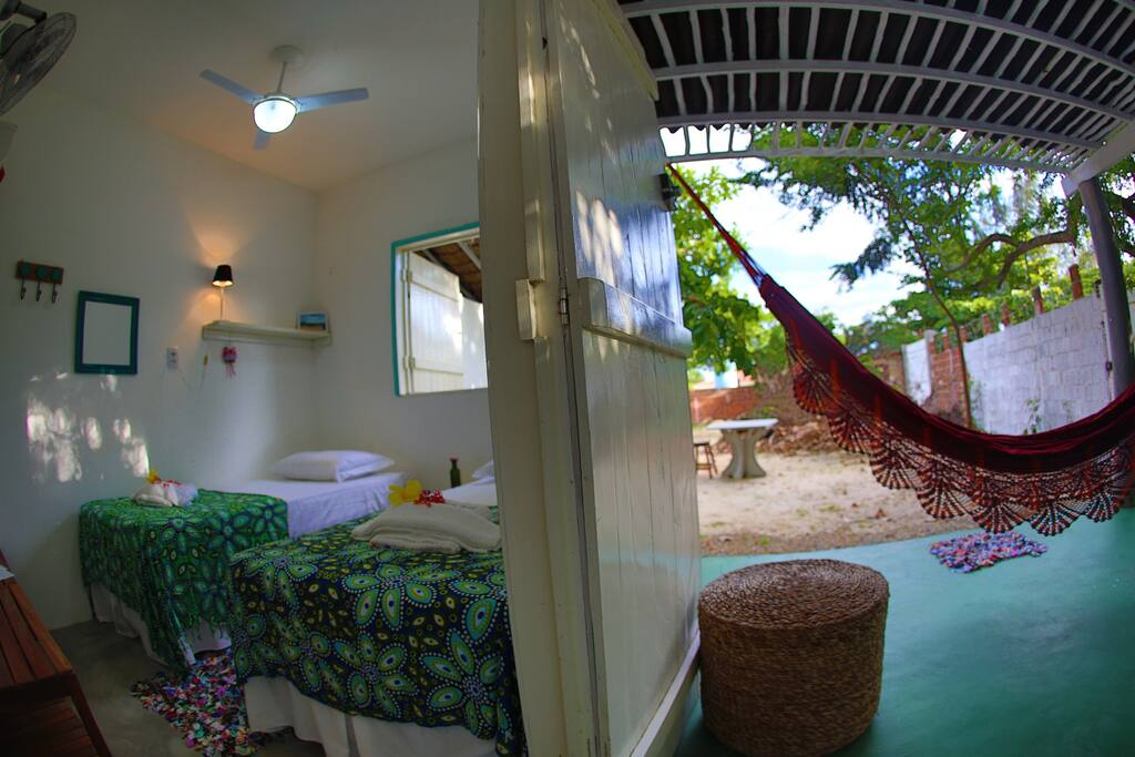 Tree house for 2 private bathroom mini kitchen houses for rent in jericoacoara beach cear - Tree house bathroom ...