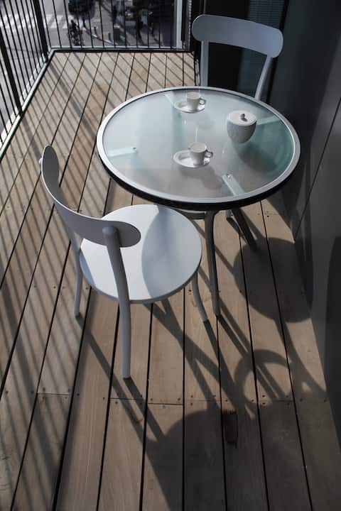 Modern 1 bedroom with Parking-balcony-Hilton area