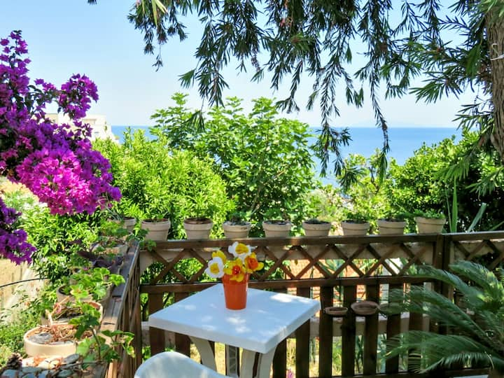 House with 2 bedrooms in Ville-di-Pietrabugno, with wonderful sea view, enclosed garden and WiFi - 600 m from the beach