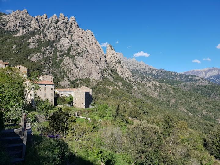 Maison de village authentique en pierre