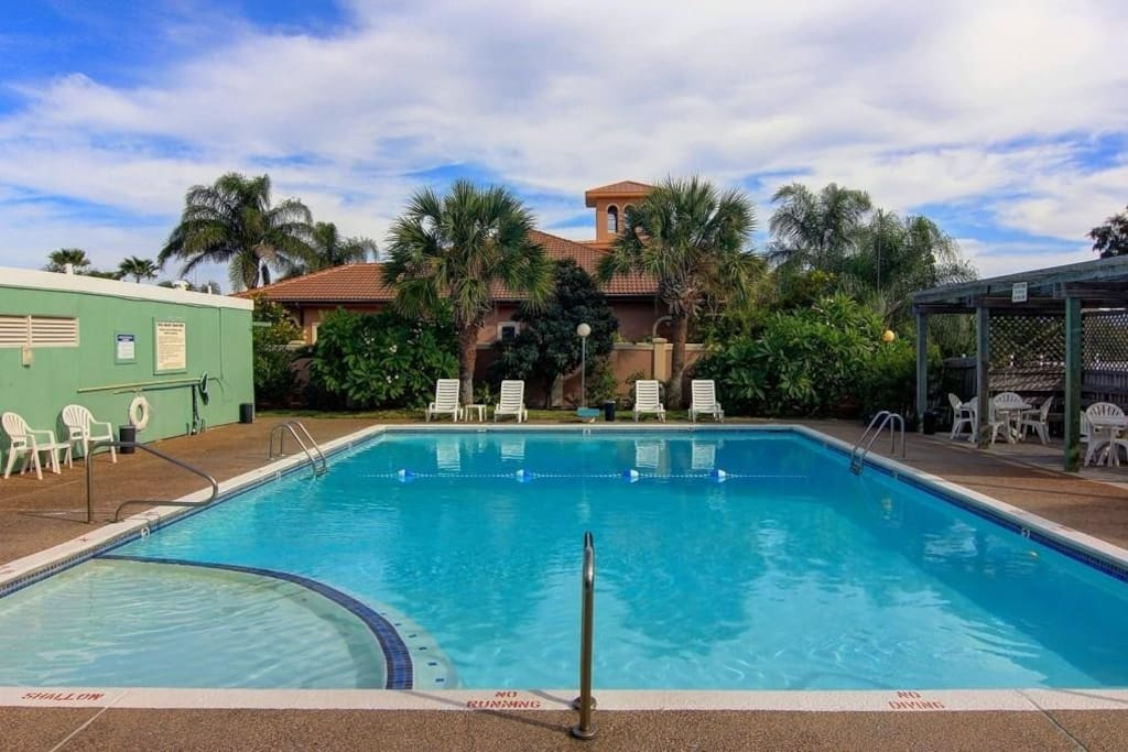 Guests can enjoy community pool access