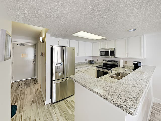 Whip up tasty meals in the updated kitchen, equipped with a full suite of sleek, new appliances.