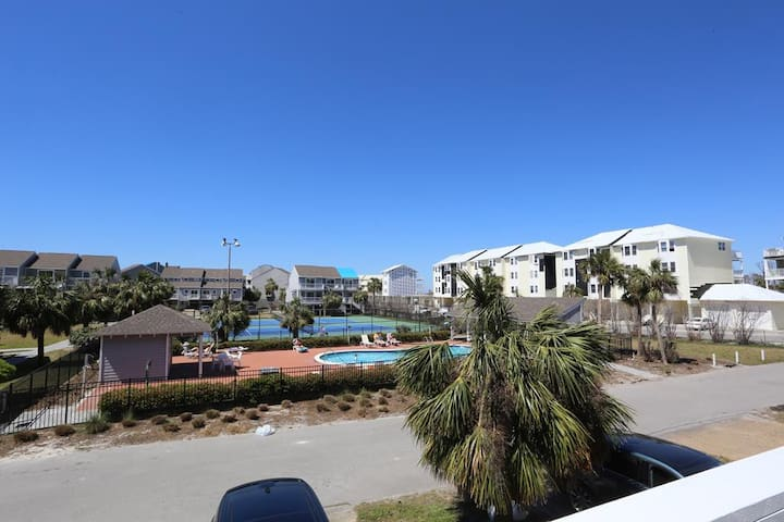 Overlooking The Pool, Overlooking The Pond, Short Walk To The Beach