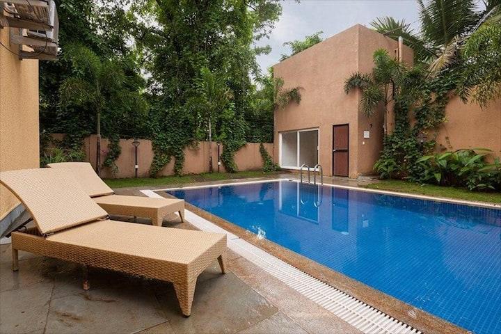 Zuari -sophisticated villa in Anjuna