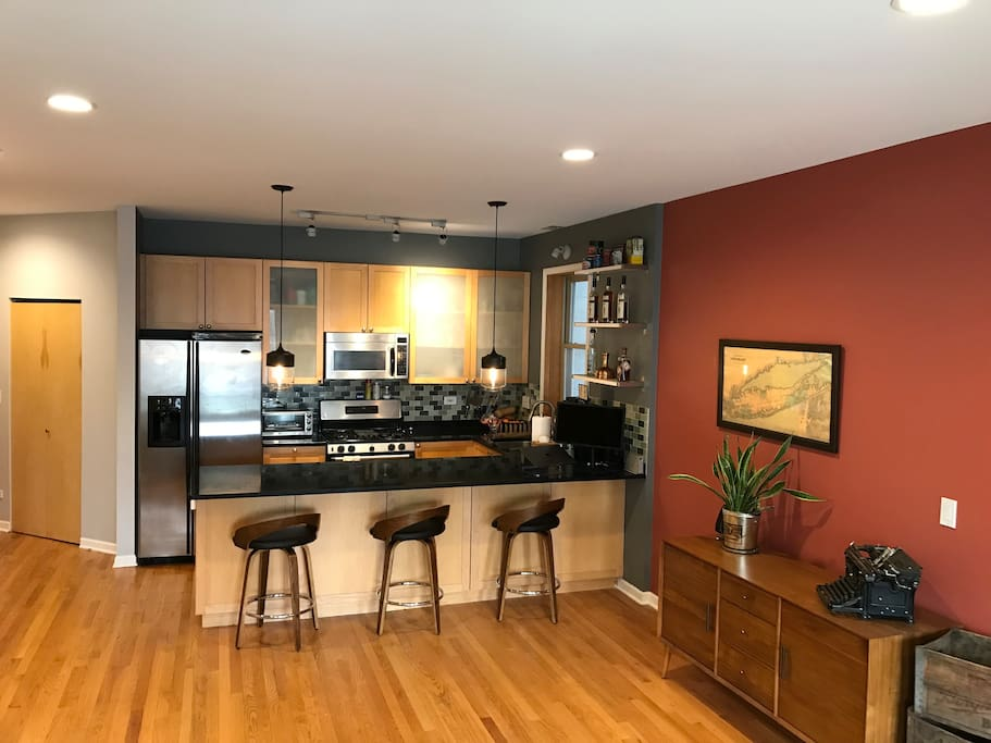Open Kitchen/Living Room