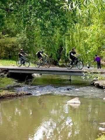 Merri Creek bike and walking path 175m to the east
