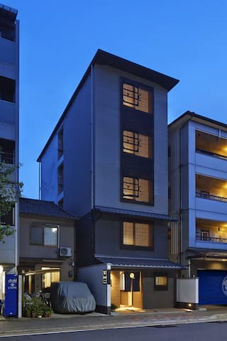 Twin1 NUMBER SIX HOTEL 6mins walk from Nijo St.