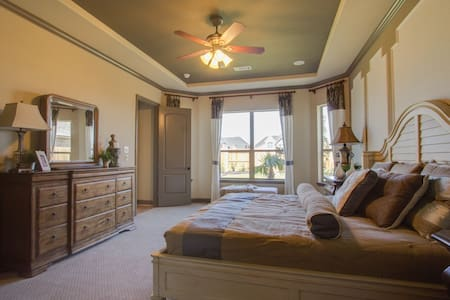 Master bedroom of a model home - Katy