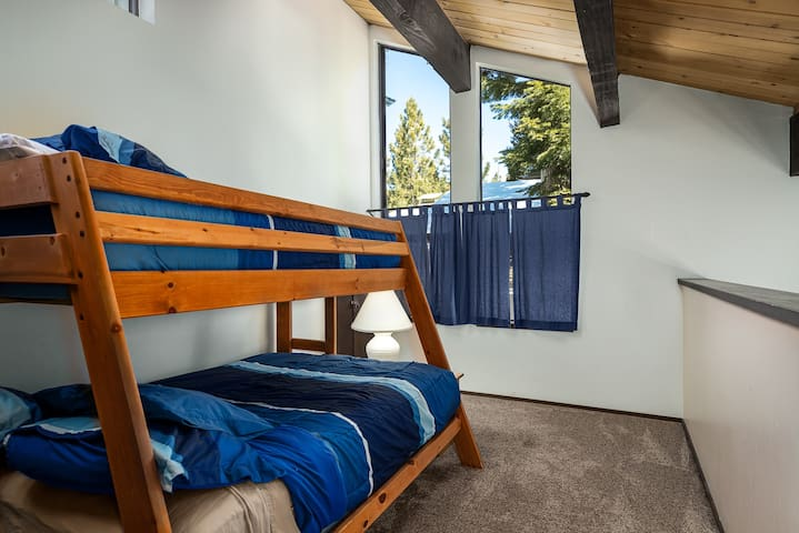 Loft Area with Pyramid Bunk Bed Opens to the Living Area Below