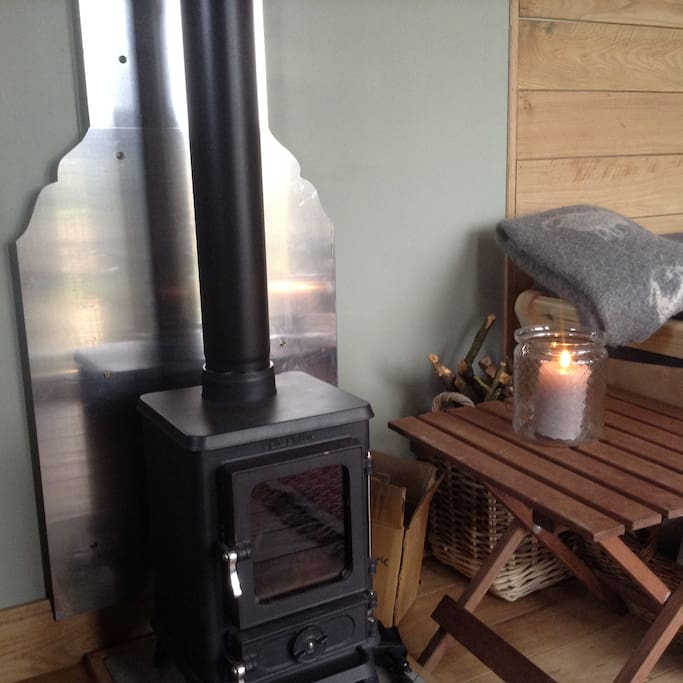 Woodburner for those chilly nights.