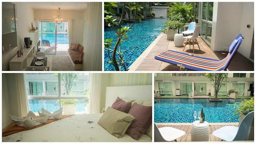 1br Pool Access. WiFi, Subway, Gym, Shopping, Food - Bangkok - Daire