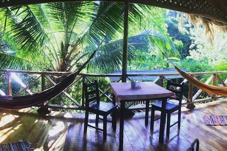 Beach chillout garden house .