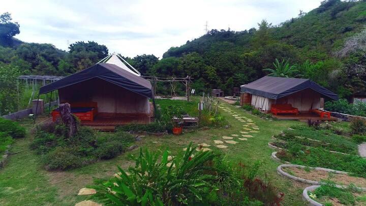 Glamping en tente safari à la Réunion 12 personnes