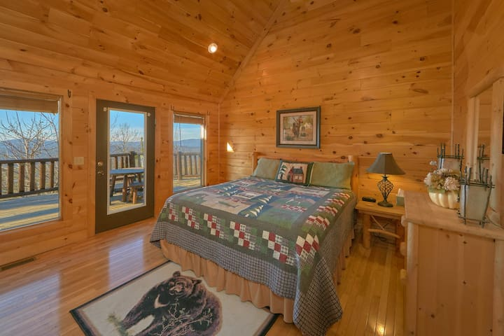 Each bedroom has its own private walkout to the deck.