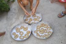 "... traditional cookies. Encouraging our guests to live the experience of the local tradition. ""Two arch type houses in Archangelos Rhodes - Ambassadors of Hellenic culture."