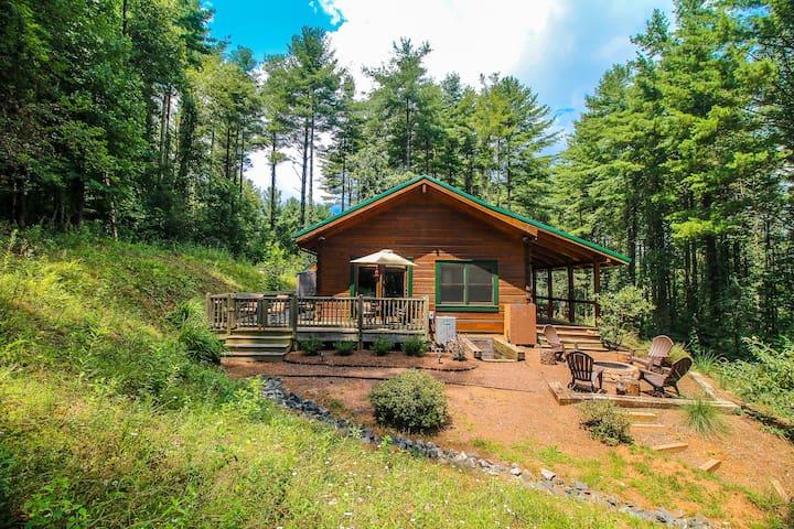 Peaceful Paradise - Log Cabin W/Fire Pit, Gas Fireplace & WiFi!