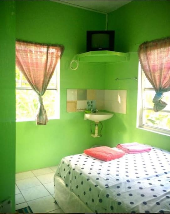 Natural sunlight in a single room and full bathroom