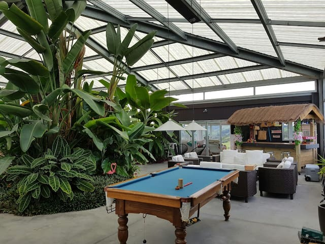 Glass Barn all-weather tropical retreat