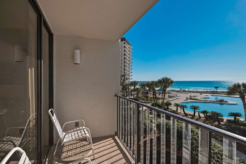 Private Balcony with a View of the Pool and Gulf of Mexico