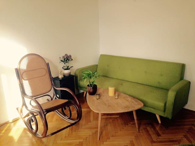 Schöne Altbauwohnung mit großer Terrasse - Wien - Apartment