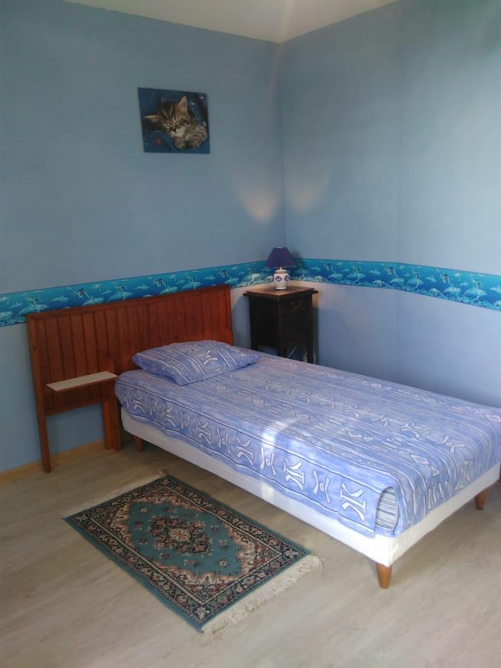 chambre bleue, marine