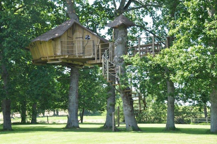 """Cabane """"Tiegezh"""", Dinan, Saint-Malo - Saint-Pierre-de-Plesguen - Casa na árvore"""
