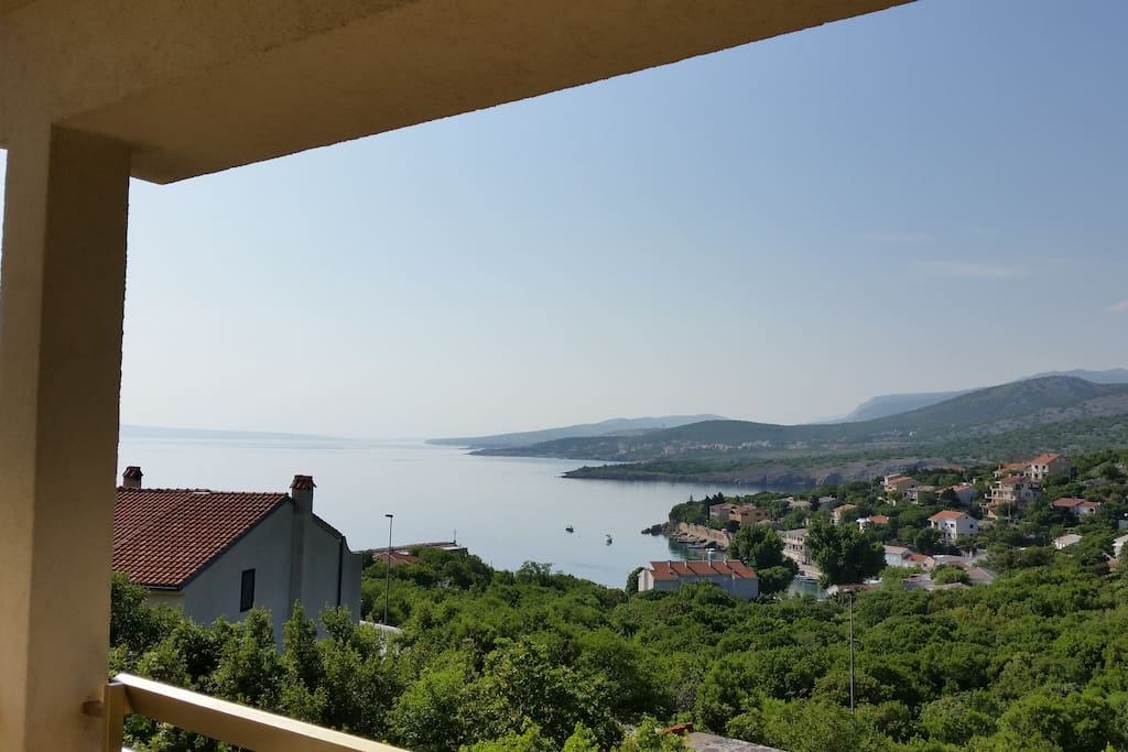 Village of Klenovica, view from the house