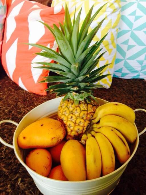 frutas en la sala
