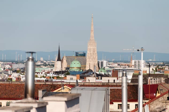 Penthouse over Viennas rooftops