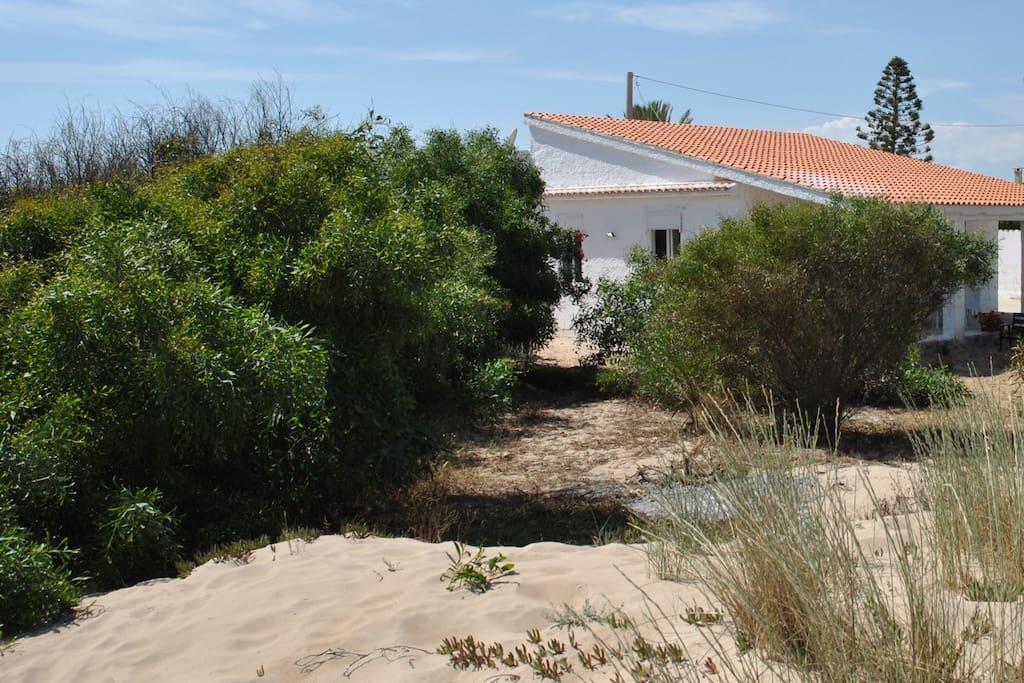 Casa vista dalla spiaggia