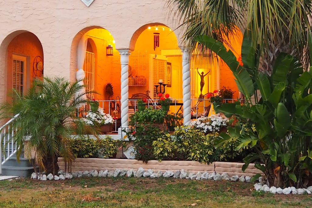 Your own bit of the mediterranean in Sunny Florida. Dine or relax on the patio.