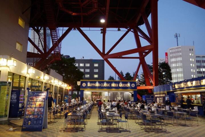 Beer garden at Odori park