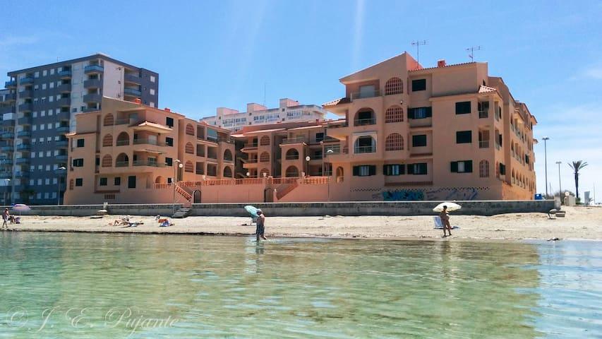 Apartamento en alquiler en 1a línea de playa - San Javier - Condominio