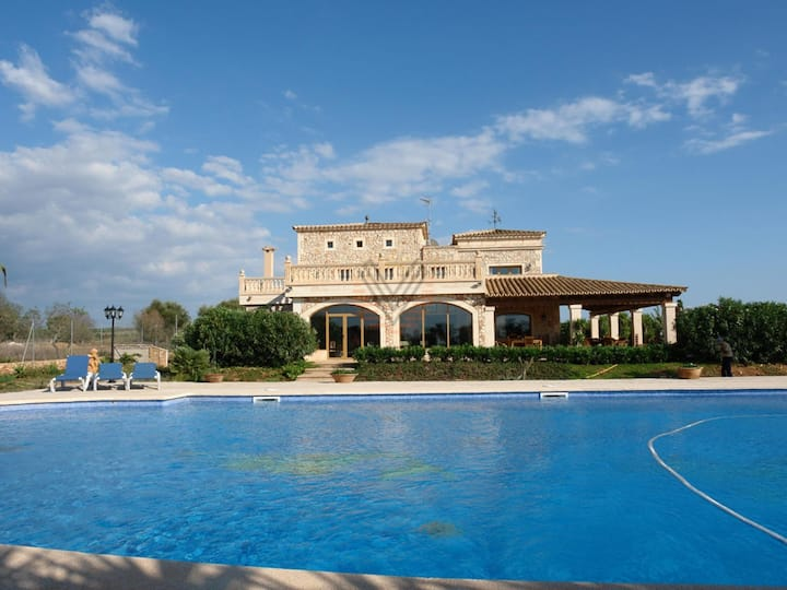 Na Pont, holiday country house for 18 persons in Campos, Majorca