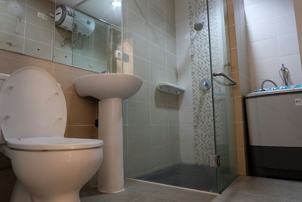 1st Bathroom with shower & hotcold water