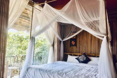 Mai Chau Eco Homestay - Family Room Mountain View