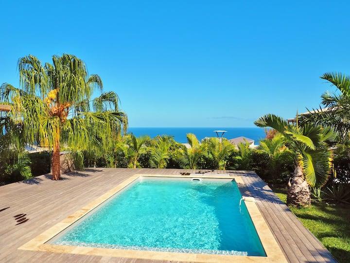 *VILLA RÊVE D'AZUR* - piscine et vue océan