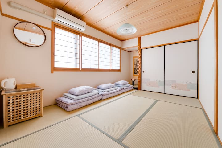 cozy tatami room . 10mins to kansai airport/Rinku