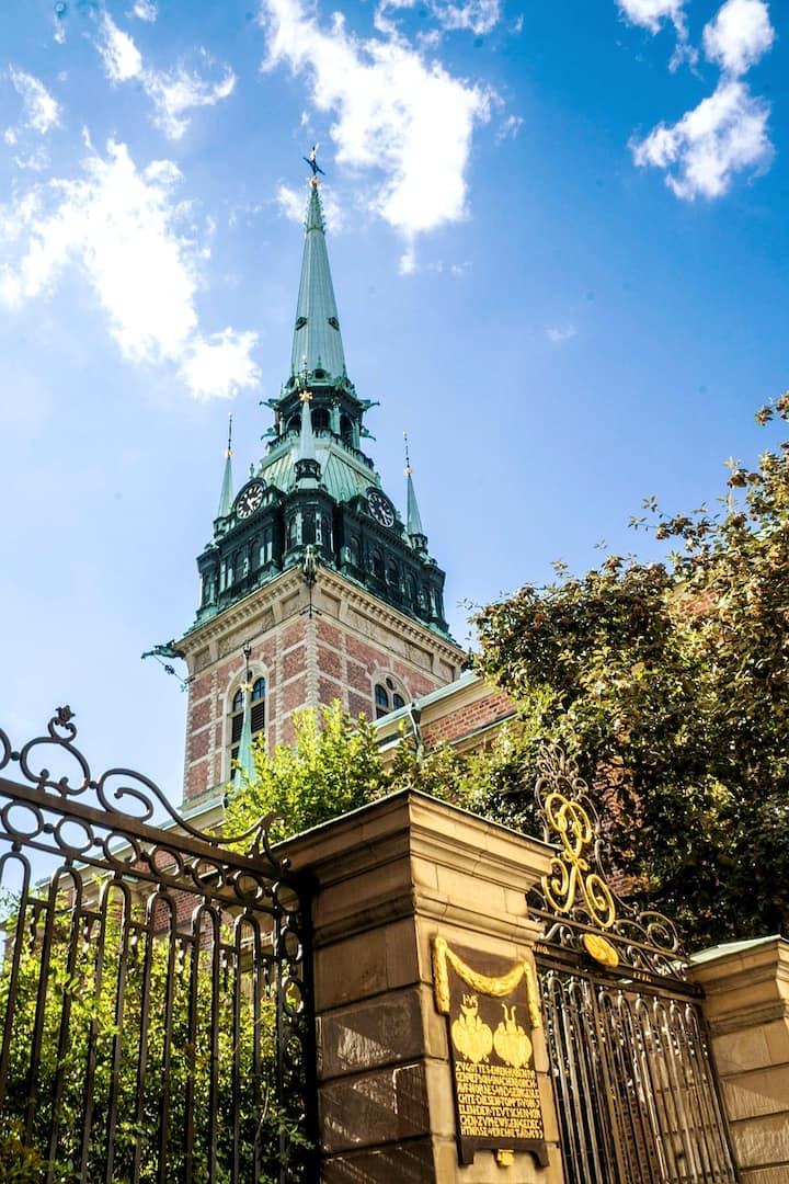 Amazing German  church från 1650