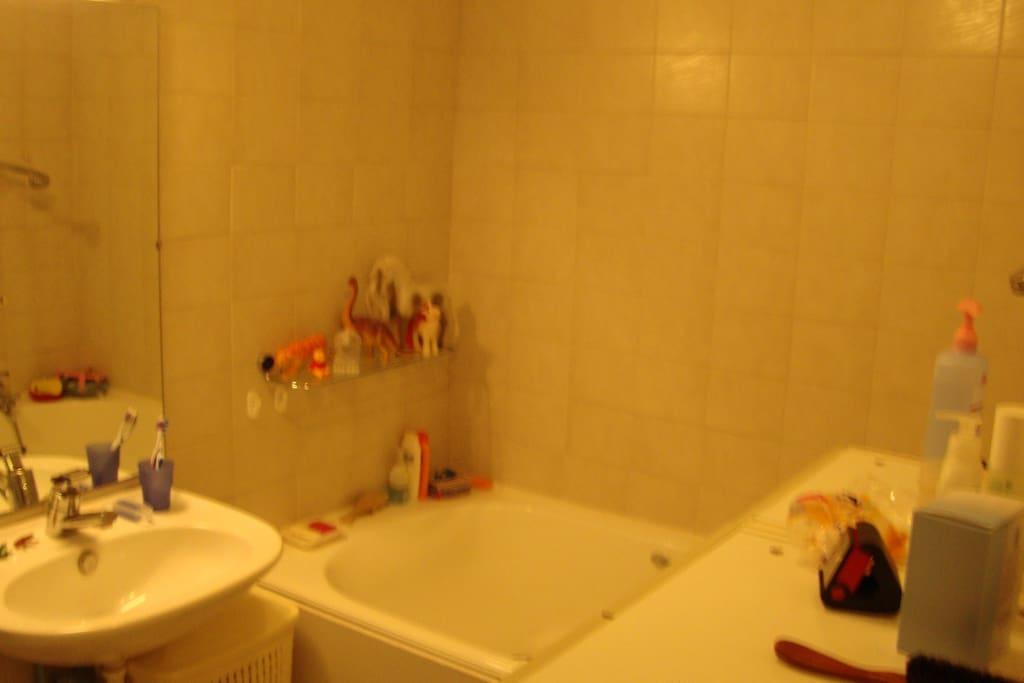 Salle de bain avec douche individuelle
