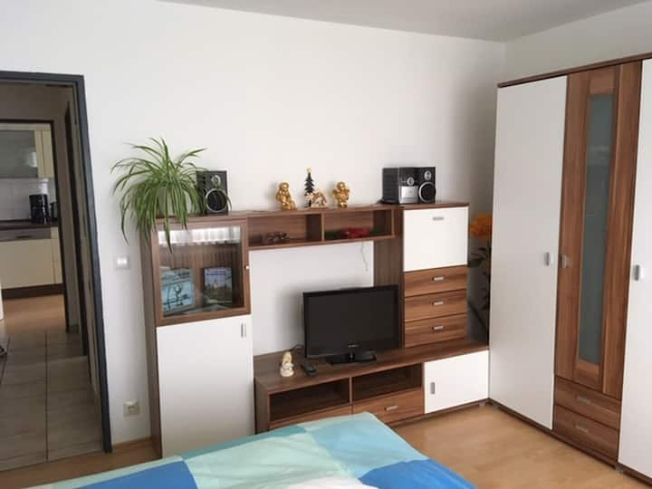 Ferienwohnung Hintz, (Blaubeuren), Ferienwohnung mit Terrasse, 40qm, 1 Wohn-/Schlafzimmer, max. 2 Personen