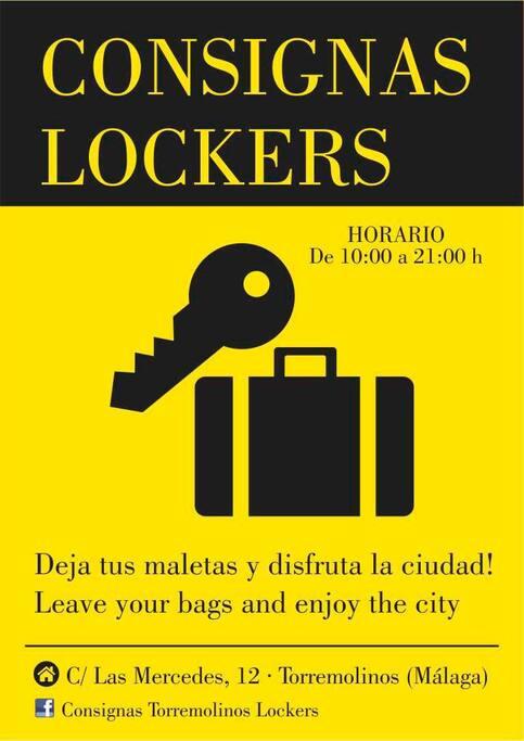 Para dejar las maletas / to leave the bags