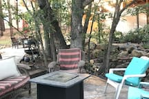 Propane fire pit with seating for all!